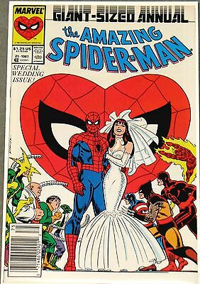 AMAZING SPIDER-MAN ANNUAL #21 NM Wedding Issue Spidey Cover 1987  Marvel #comics