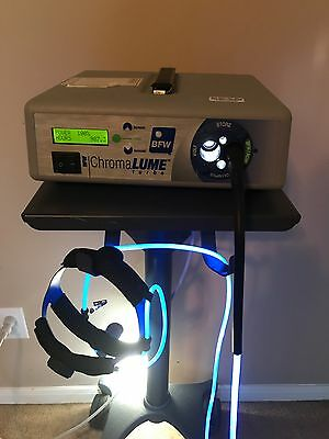BFW Headlight, Light source, and Stand. Complete Surgical System. Low Hours