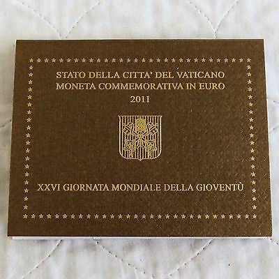 VATICAN CITY 2011 26th WORLD YOUTH DAY 2 EURO - MINT PACK
