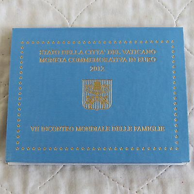 VATICAN CITY 2012 7th WORLD MEETING OF FAMILIES 2 EURO - MINT PACK