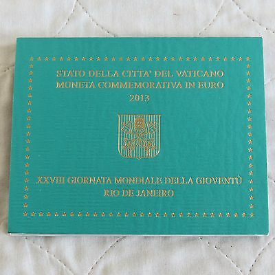 VATICAN CITY 2013 28th WORLD YOUTH DAY 2 EURO - MINT PACK