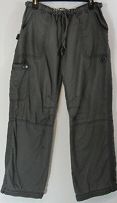 Koi by Kathy Peterson LARGE Gray Cargo Scrub Pants Style 701 Women's Excellent!