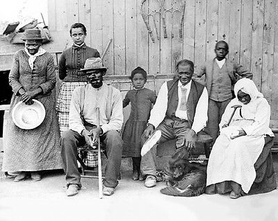 1887 Activist HARRIET TUBMAN & Family Glossy 8x10 Photo Historical Print Poster
