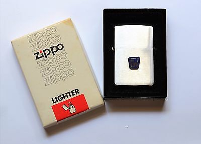 1980 Vintage Zippo lighter unused in box with instructions & Foster Wheeler logo