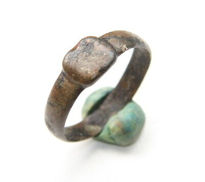 Ancient Old Medieval Bronze Ring (JLE20)