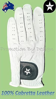 Mens Genuine Cabretta Leather Golf Gloves Left Hand For RH Player Size XL ML & L