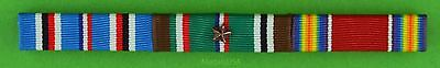 3 Ribbon Bar WWII European Campaign - ETO with Campaign /Battle Star - WW2