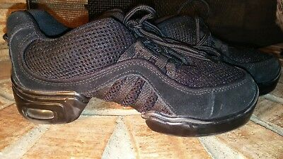 Revolution Dancewear Jazz Shoes Womens Size 6 BLACK USED VGUC Dance Performance