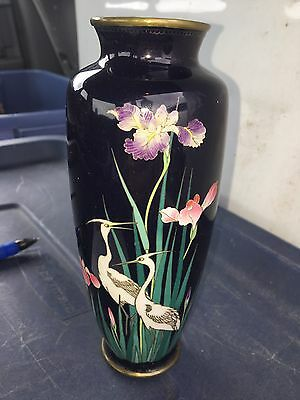 "Early 7 2/2"" Signed Japanese Cloisonné Vase"