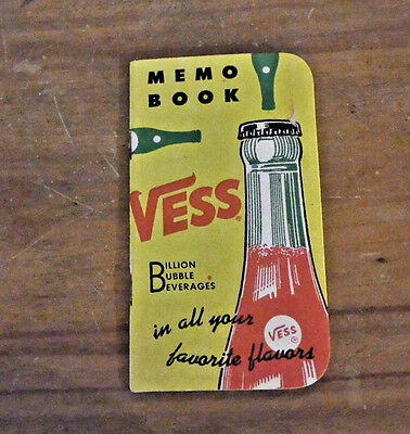 Vintage 1955 Vess Soda Billion Bubble Beverages Memo Book  Unused