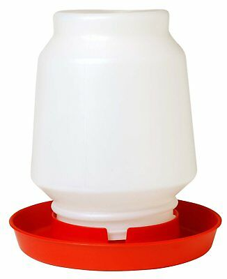 Miller Manufacturing Plastic Poultry Fountain Complete Waterer Red 1 Gallon