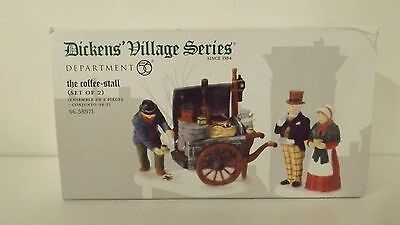 Dept 56 Dickens Village The Coffee Stall Set of 2 58571 New MIB