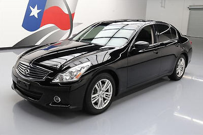 2013 Infiniti G37  2013 INFINITI G37 JOURNEY SEDAN LEATHER SUNROOF NAV 55K #302785 Texas Direct