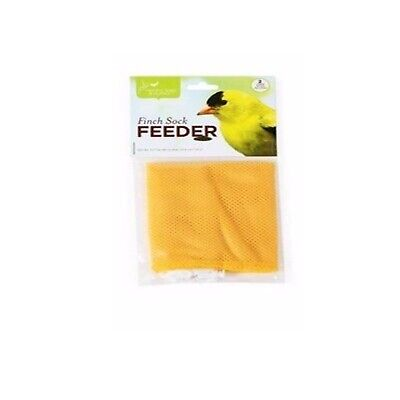 """Pacific Bird Nyjer Seed Feeder Finch Thistle Sock White Yellow 2-piece 16x4.5"""""""