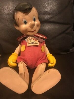 Antique Pinocchio Doll With Original Label In Great Condition Htf