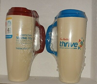 Tim Hortons ThermoServ Travel Mug Set of 2 Owners Convention 2016 New his hers