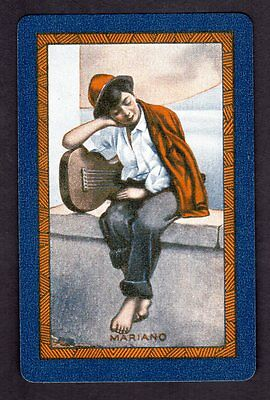 Vintage Swap/Playing Card - Titled - Mariano (LINEN)
