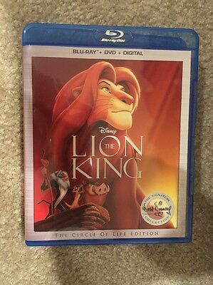 Disney The Lion King (2017) Bluray 1 Disc Set ( No Digital HD) Ship Now
