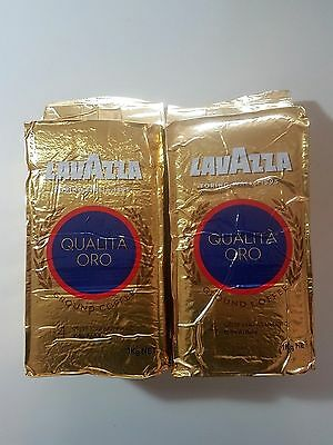 2x PACK 1KG LAVAZZA GROUND COFFEE 100% ARABICA QUALITA ORO Italian Coffee
