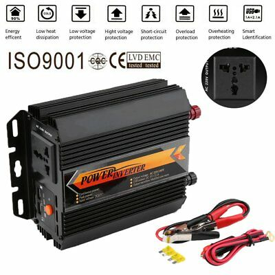 Convertisseur 3000W Onduleur Chargeur Pure Sinus Power Inverter DC 12V AC 220V