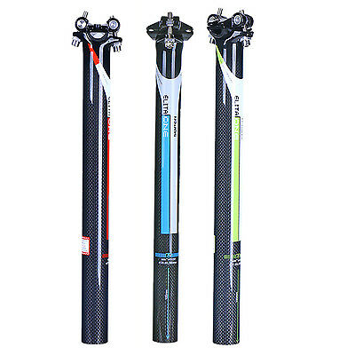 Lightweight 3K Carbon Glossy Carbon Fiber Bicycle Bike Seatpost Seat Tube Post