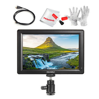 """FEELWORLD 7"""" IPS Full HD 1920x1200 4K HDMI On-camera Monitor F7+ HDMI Cable"""
