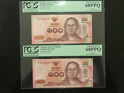 """Extremely Difficult Signature #86 Combination 2015 Thailand Banknote """" Read Why"""""""