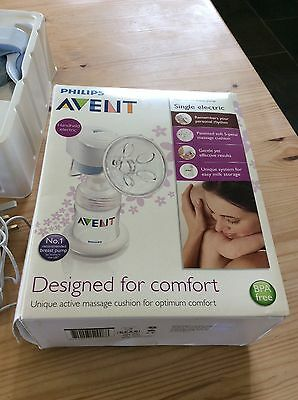 Philips Avent electric breast pump BPA free , can also be used manually.