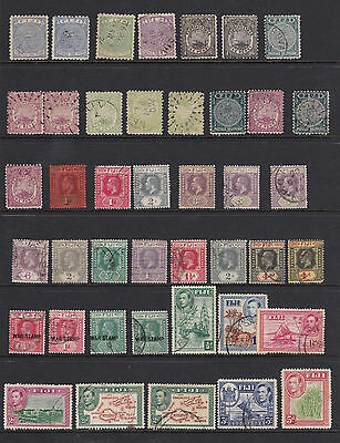 Fiji Group 1878-1962 QV KGV KGVI QEII Definitives used see pictures