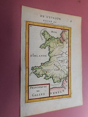 100% Original Small Wales  Map By G Blaeu C1690/s Vgc Hand Coloured Vgc