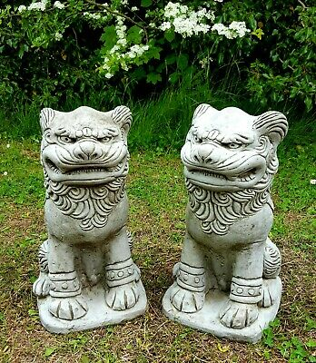 NEVER MIND THE DOG BEWARE OF THE OWNER!!! Stone Cast Handmade Ornament Statue
