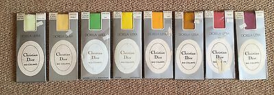 Christian Dior 1967 Vintage Diorella Ultra 15 Denier Plain Knit Tights JOB LOT