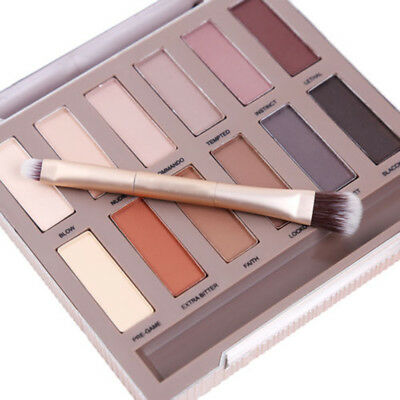 12 Color Natural Matte Eyeshadow Palette Nude Eye Shadow With Brush Mirror Set