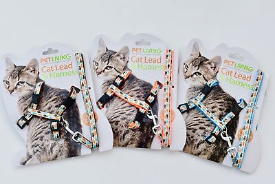 any Fish Design Cat Harness & Lead