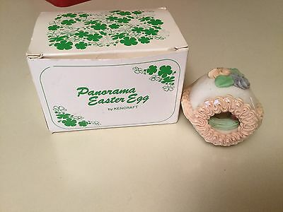 Panorama Small Easter Egg by Kencraft #101 Vintage Duck Sugar Decoration Pink