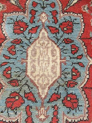 Antique Caucasian Turkish Floral Rug   Hand Washed Ready For Use