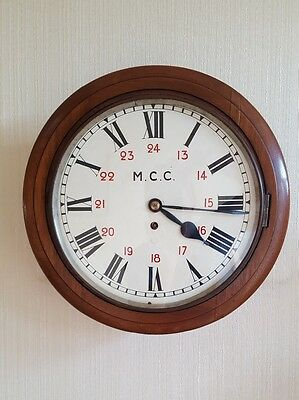 "vintage fusee wall clock railway town hall 1879 featuring 12"" dial"