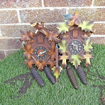 2 Black Forest Style Cuckoo Clocks For Spares Or Repair