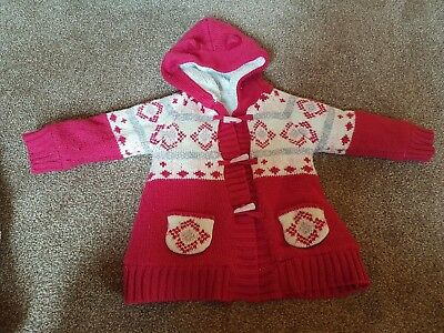 Girls red wool coat 12-18 months
