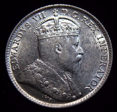 Canada: Stunning 1903 Silver 5 Cents. High Grade! Better Date!