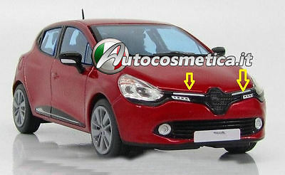 2012 up renault CLIO 4 IV HB chrome front grill 2pcs S:STEEL
