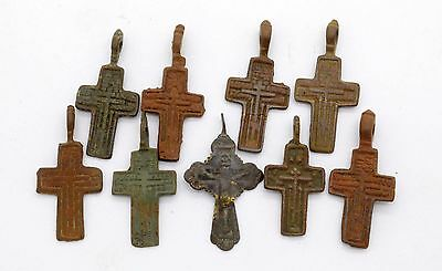 Medieval Christianity Cross Pendant lot . 17-18 century
