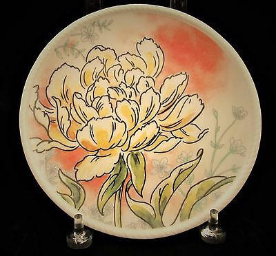 Fitz and Floyd Savannah Home Yellow Peony Accent Plate