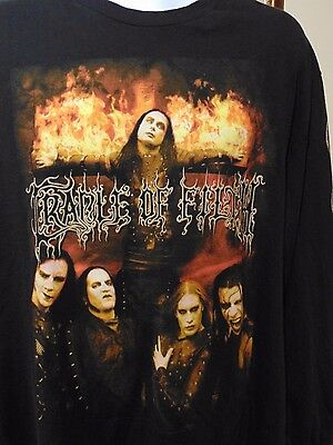 CRADLE OF FILTH TONIGHT IN FLAMES CONCERT MUSIC T-SHIRT LONG SLEEVE Large