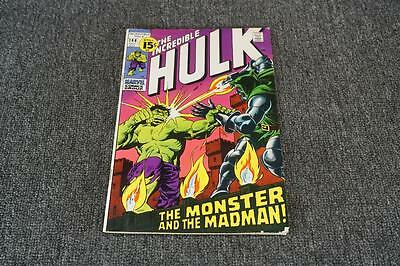 Vintage The Incredible Hulk Comic Book The Monster & The Madman Oct 1971