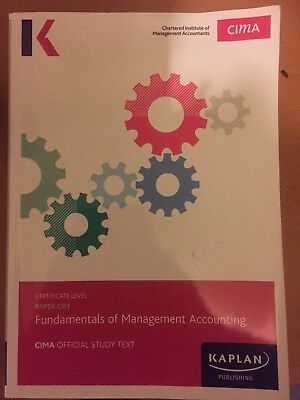 cima Fundamentals Of Management Accounting (co1) Book