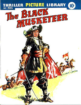 THRILLER PICTURE LIBRARY No.205  THE BLACK MUSKETEER  -  Facsimile 68 page Comic