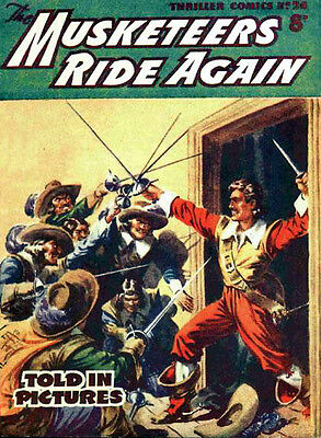 THRILLER PICTURE LIBRARY No.26 MUSKETEERS RIDE AGAIN  -  Facsimile 68 page Comic
