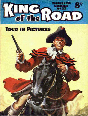 THRILLER PICTURE LIBRARY No.22 KING OF THE ROAD  -  Facsimile 68 page Comic