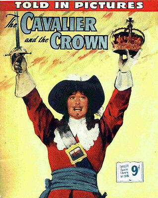 THRILLER PICTURE LIBRARY No.116 CAVALIER AND CROWN  - Facsimile 68 page Comic